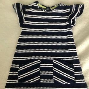 Cat & Jack 5T Nacy and White Striped Dress